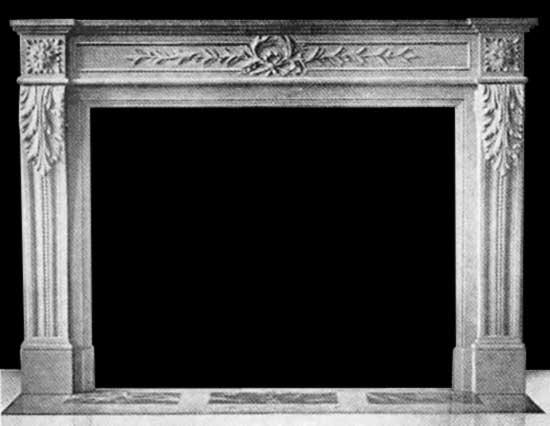 kamin im stil louis xvi carrara marmor ph kamine. Black Bedroom Furniture Sets. Home Design Ideas